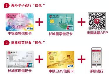 信用卡并通过网上银行/ 手机 银行/ 出国 金融app成功