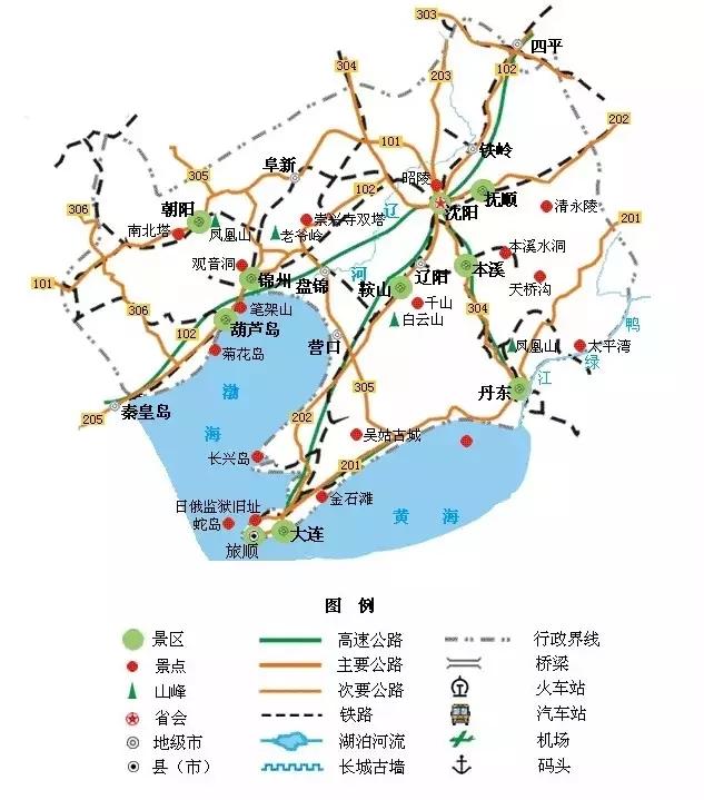 葫芦岛景区地图全图